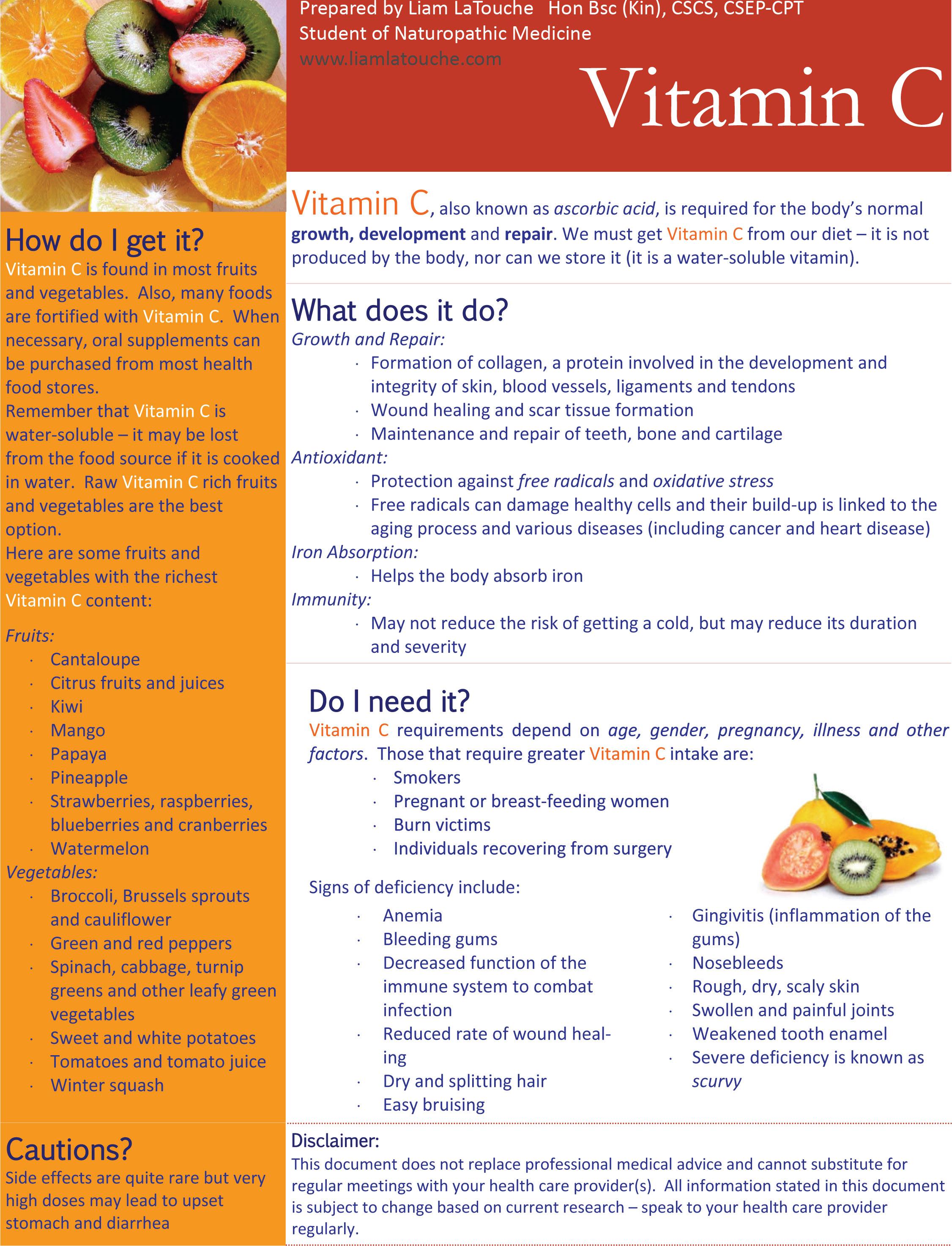 vitamin c | liam latouche wellness