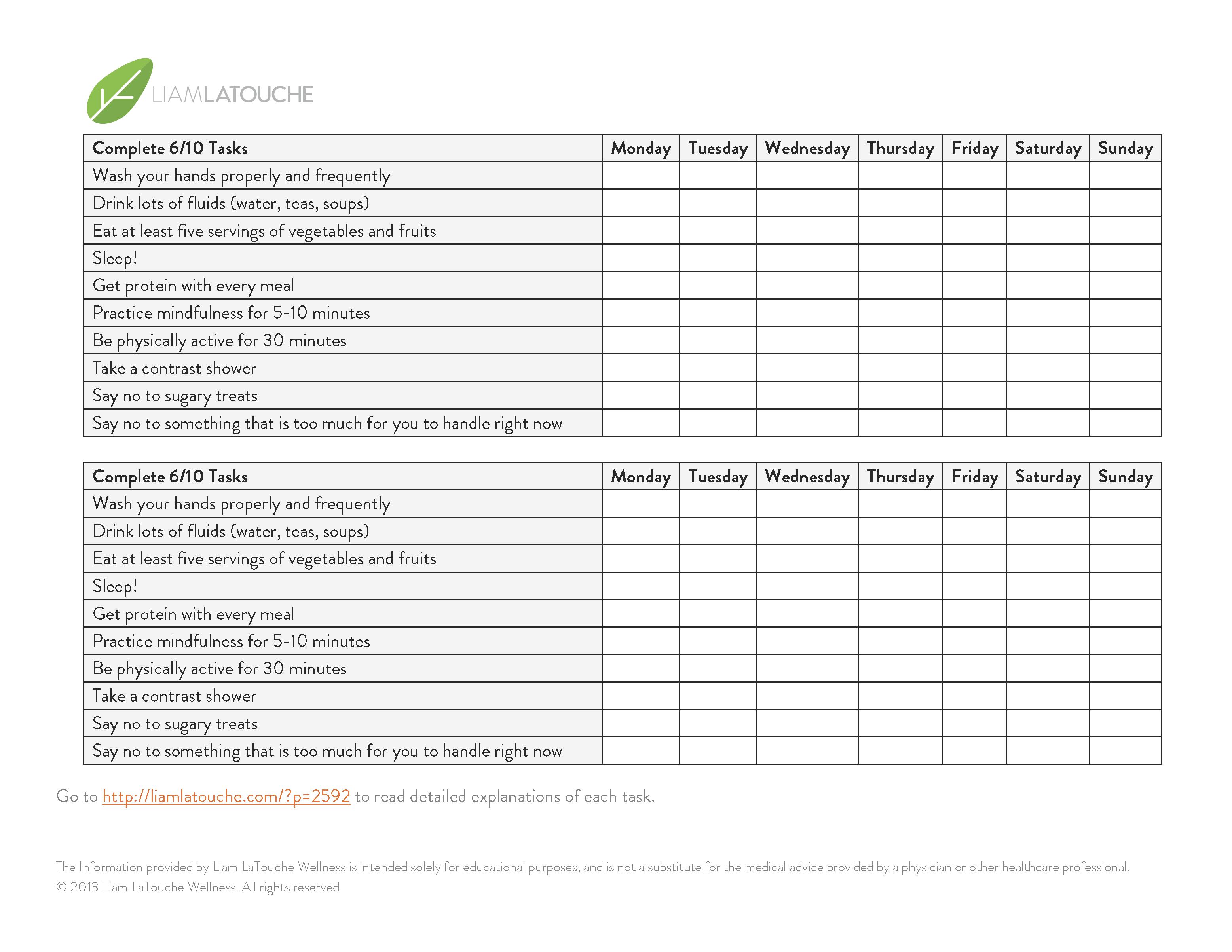 cold and flu prevention checklist liam latouche wellness